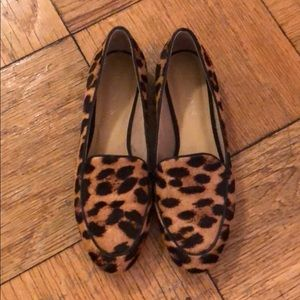 Talbots Calf Hair Leopard Loafers - LIKE NEW